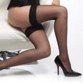 Coquette Sheer Stockings With Lace Top